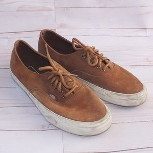 Vans Authentic Brown Suede Sneakers Size 8.5